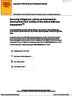 Native Wellness Assessment | Thunderbird Partnership Foundation